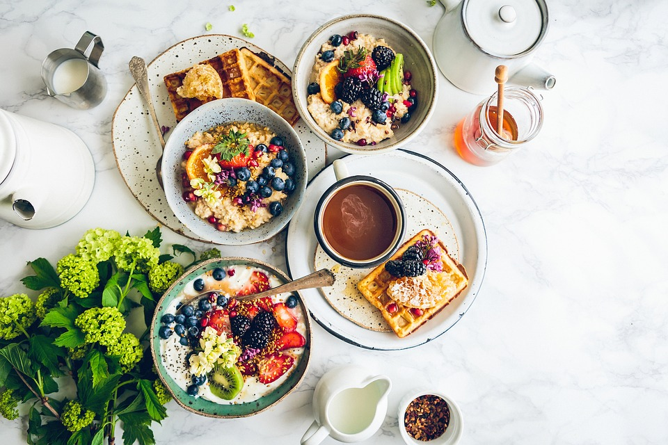 breakfast bowl with fruits and nuts