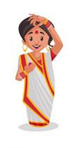 Indian women wearing kumkum