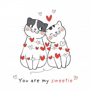 cats in love - represents libido enhancing benefit of saffron