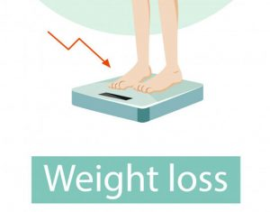 weight loss vector - shows health benefits of saffron