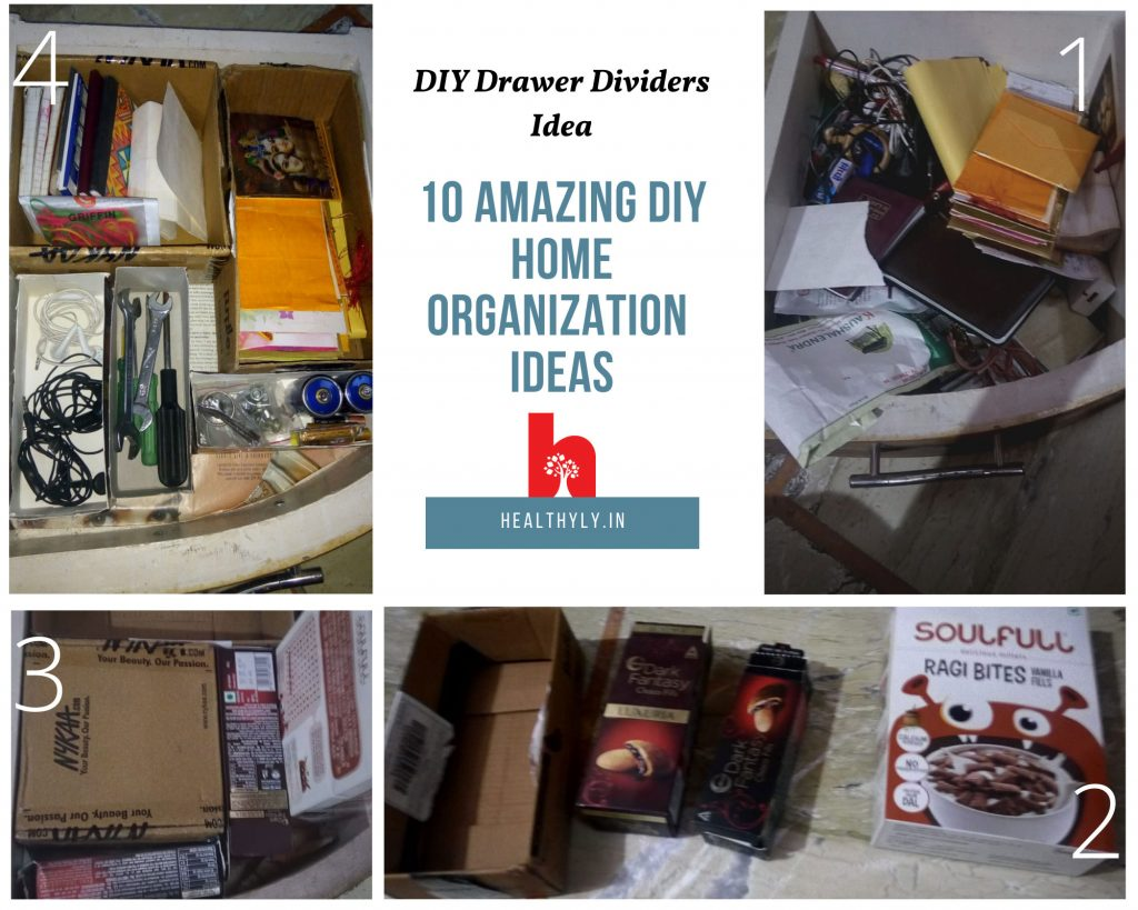 drawer organization by DIY drawer dividers